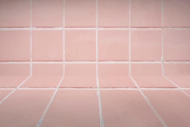 ピンクのタイル張りの背景 無料写真