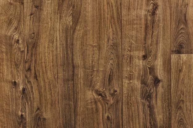 茶色の木の床のテクスチャ背景 無料写真