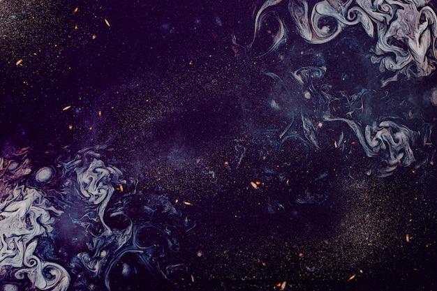 紫色の油絵の具の質感 無料写真