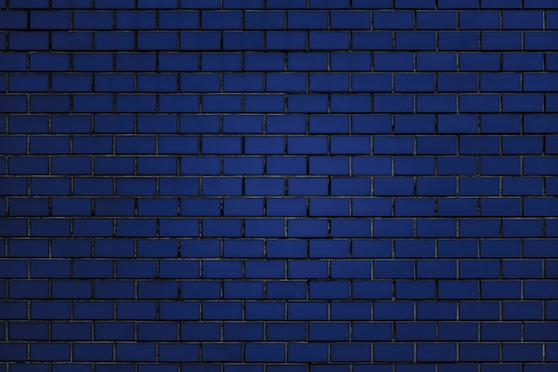 青いレンガ壁の背景 無料写真