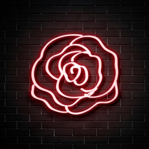 Роза неоновая вывеска Бесплатные Фотографии