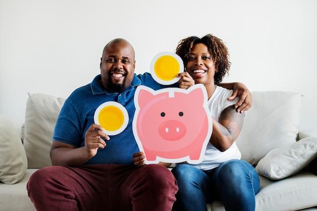 貯金コンセプトの人々 Premium写真
