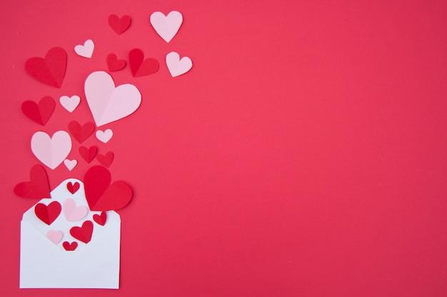 Любовное письмо - концепция святого валентина Бесплатные Фотографии