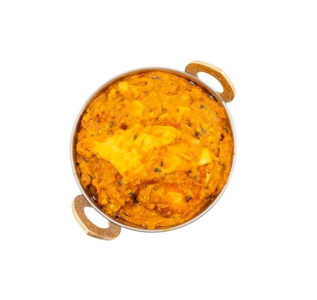 インドのベジタリアン料理特別な甘くてスパイシーなパニールパサンダ Premium写真