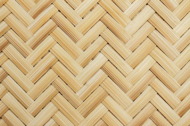 背景の編まれた竹のクローズアップ Premium写真