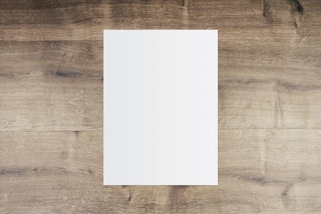 ホワイトペーパーと古い木製の背景上のテキスト用のスペース Premium写真