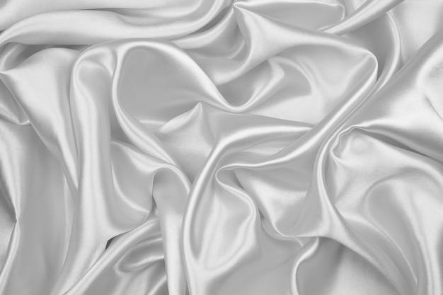 黒と白の絹の質感の抽象的な背景の豪華なサテン Premium写真