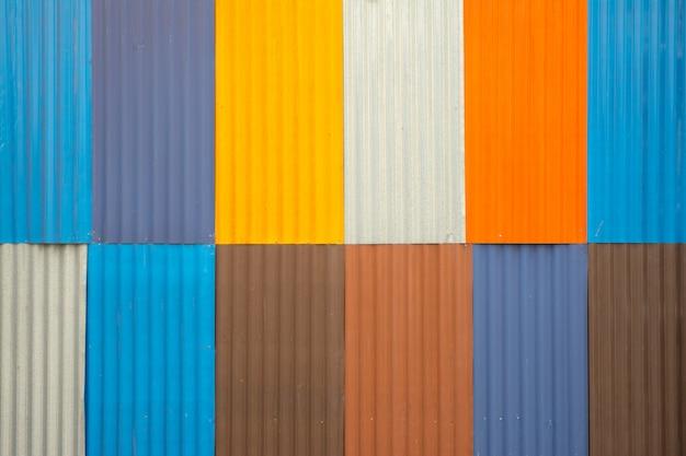 Красочный металлический лист для фона Premium Фотографии