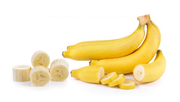 Бананы изолированы Premium Фотографии