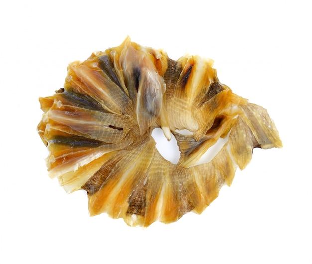 分離された白で隔離されるスティングレイ魚の乾燥 Premium写真