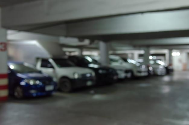 駐車場をぼかし Premium写真
