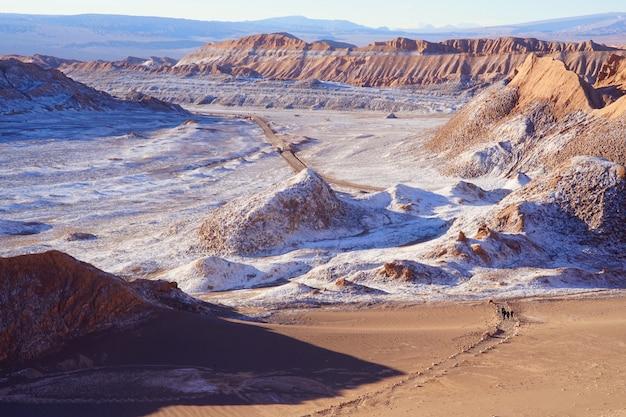 月の谷、アタカマの砂漠、チリ。 Premium写真
