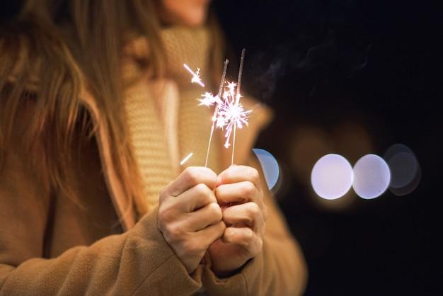 Открытка с бенгальскими огнями своими руками