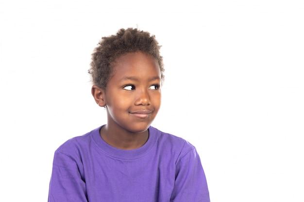 美しいアフリカ系アメリカ人の少年 Premium写真