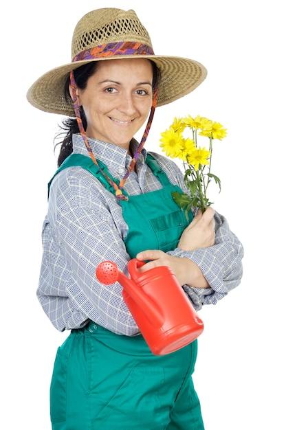 Рисунки, картинки садовника женщина