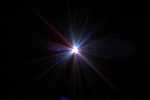 フレアと太陽の概要。光と太陽の光の壁紙と自然の背景。 Premium写真
