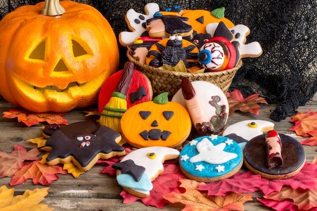 Печенье на хэллоуин Premium Фотографии