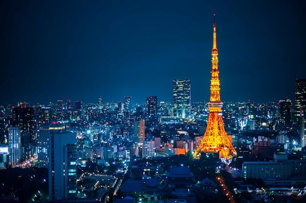 Токийская башня Premium Фотографии