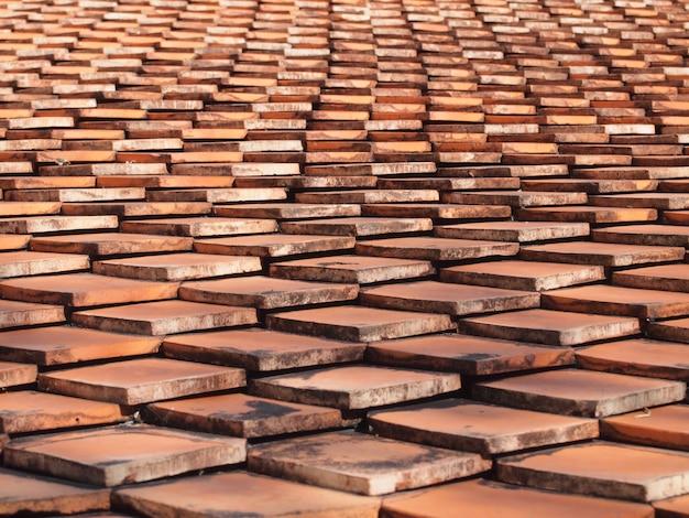 タイル屋根の背景 Premium写真
