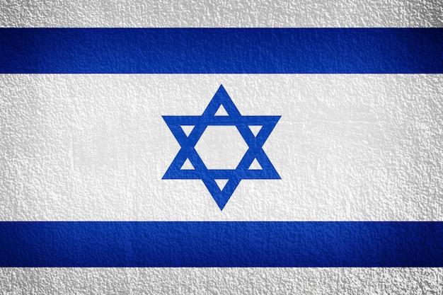 イスラエル国旗の壁 Premium写真