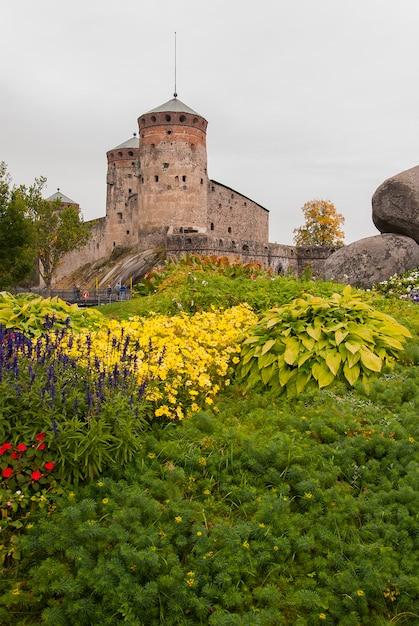 Олавинлинна замок в савонлинне Premium Фотографии