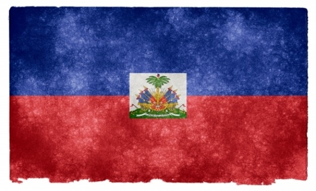 Гранж флаг гаити Бесплатные Фотографии