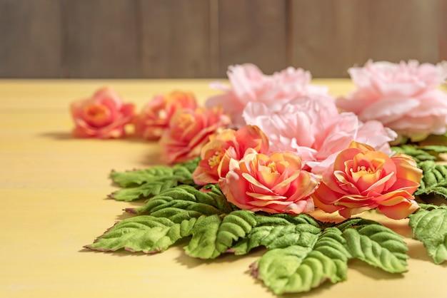 葉の美しい花 Premium写真