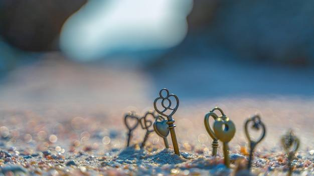 砂浜のキー Premium写真