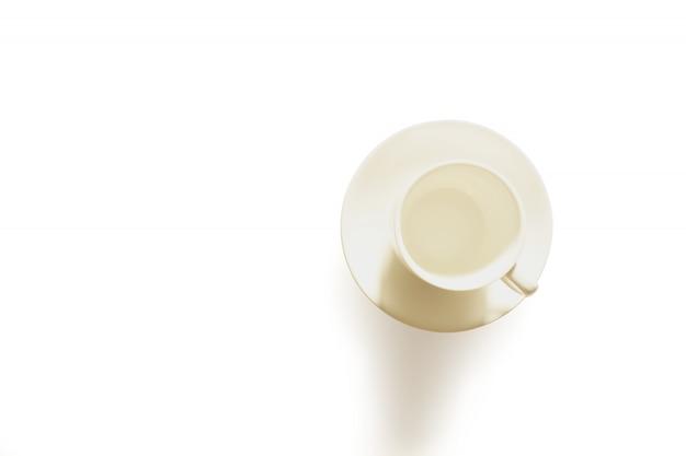 クリッピングパスと白で分離されたコーヒーカップ分離スタジオ Premium写真