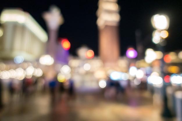 ラスベガスぼやけて背景夜 Premium写真