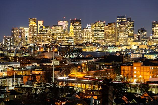 Городской пейзаж бостона Premium Фотографии