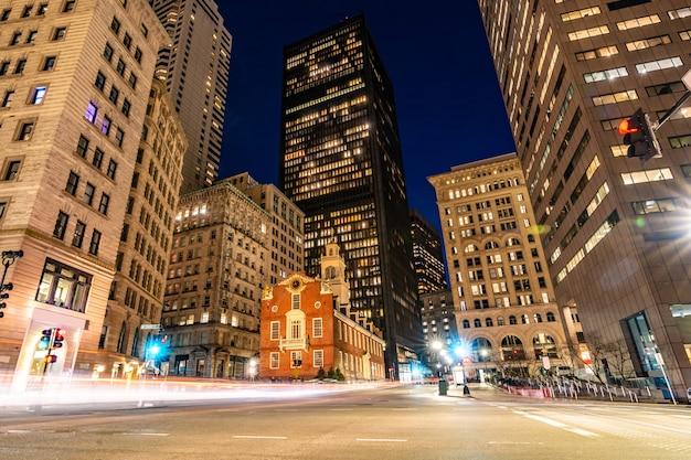 Бостон старый государственный дом Premium Фотографии