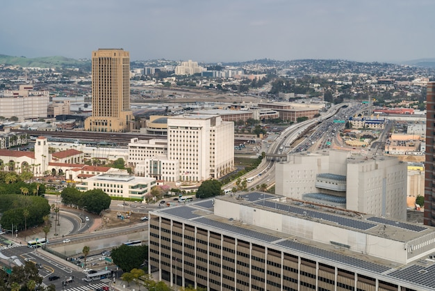 Антенна в центре лос-анджелеса Premium Фотографии