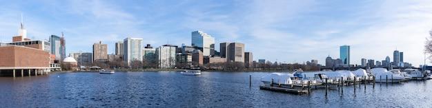 Бостон центр города панорама Premium Фотографии