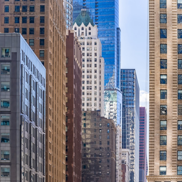 シカゴの建物のスカイライン Premium写真
