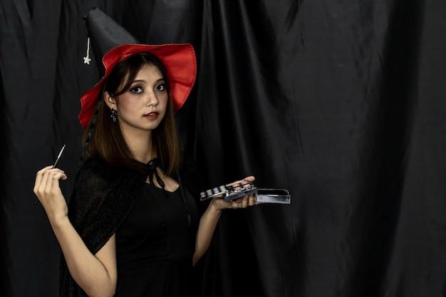 Визажист хэллоуин Premium Фотографии