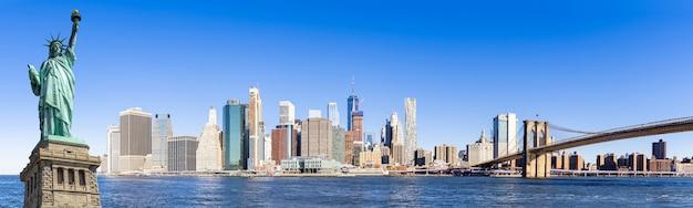 パノラマローワーマンハッタンニューヨーク Premium写真