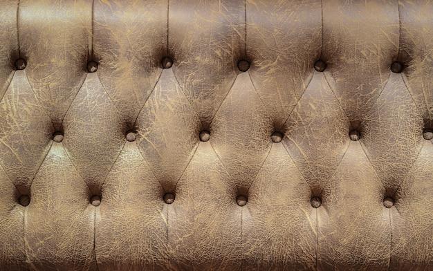 茶色の革のソファの背景 Premium写真
