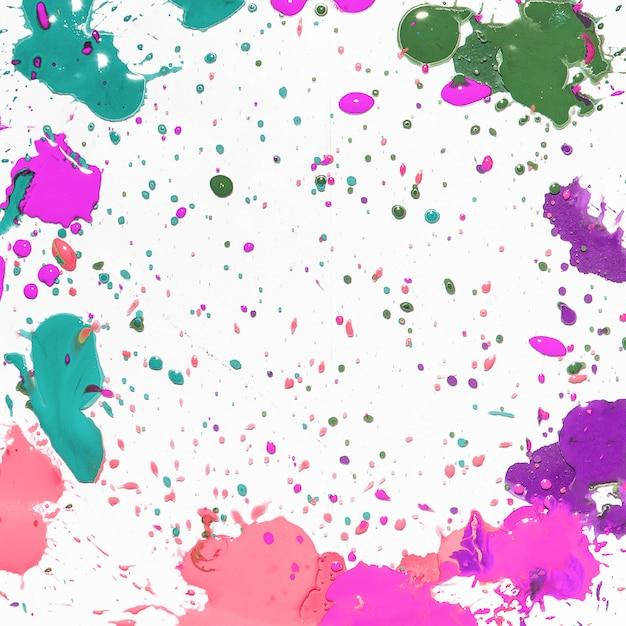 カラフルな塗料の飛散 無料写真
