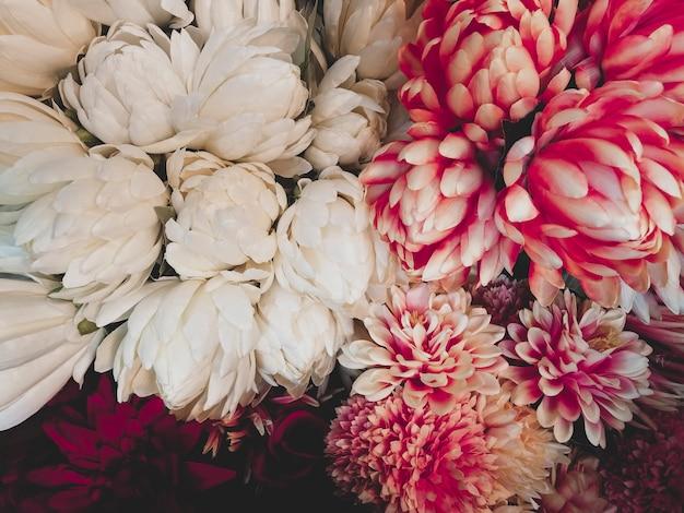 ビンテージ花の背景 無料写真
