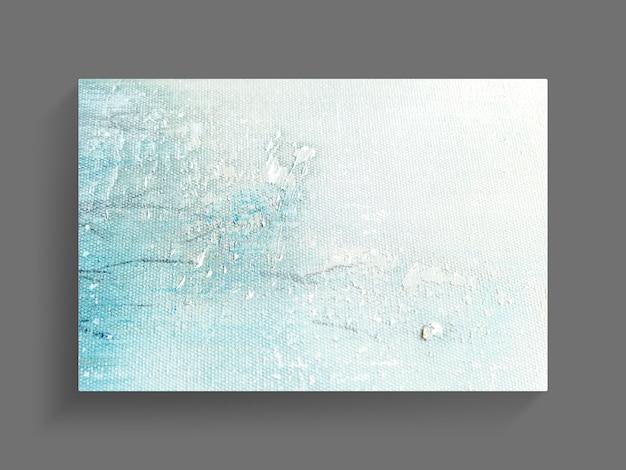 キャンバスのテクスチャ背景の抽象絵画アート。クローズアップ画像 Premium写真