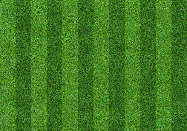 サッカーとフットボールのスポーツのための緑の芝生フィールドの背景 Premium写真