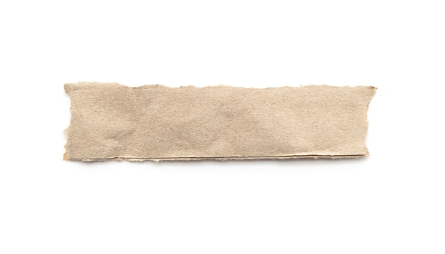 白い背景の上の再生紙クラフトスティック。 Premium写真