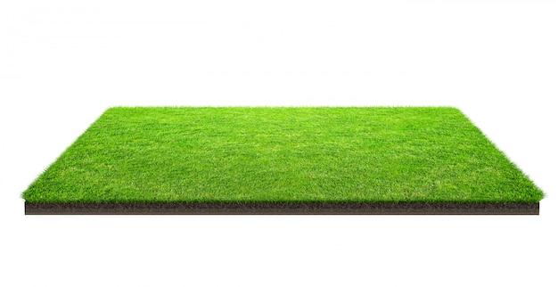 Поле зеленой травы изолированное с путем клиппирования. спортивное поле. летние командные игры. Premium Фотографии