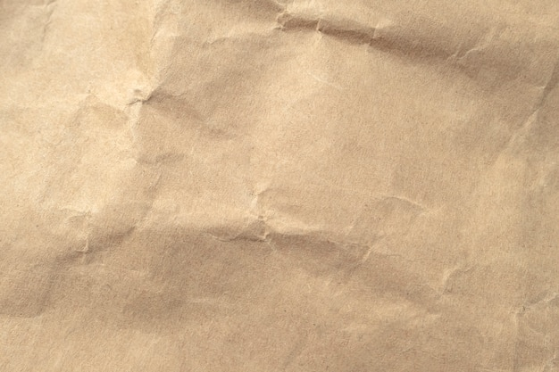 Текстура скомканная брайном бумажная для предпосылок. Premium Фотографии