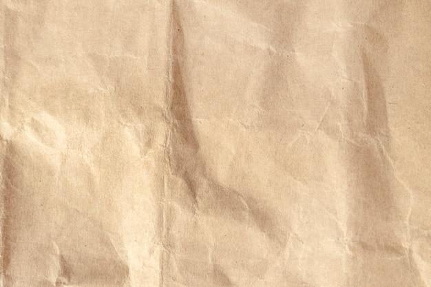 Браун мятой бумаги текстуру фона. Premium Фотографии