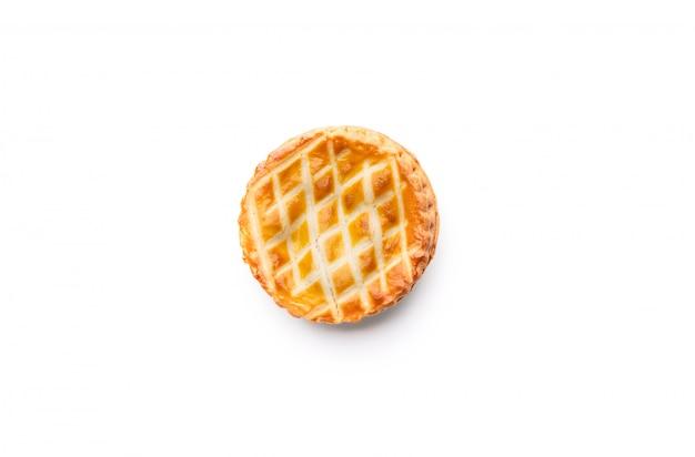 孤立した白のパイパン食品プレート Premium写真