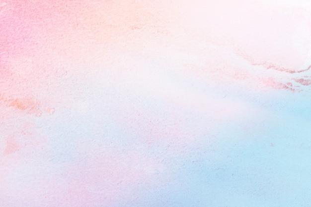 紙の背景に水彩画のパステルカラーのペイントアート Premium写真