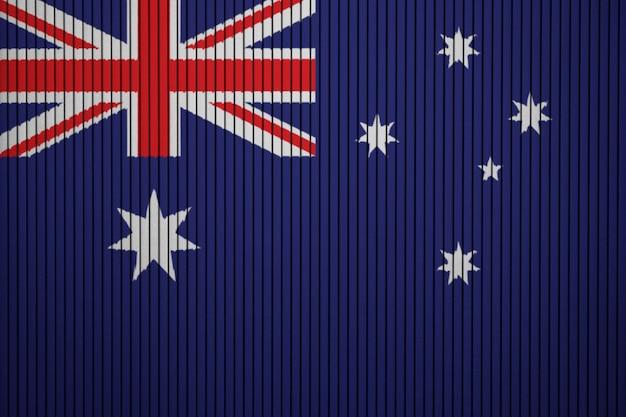 コンクリートの壁にオーストラリアの国旗を塗った Premium写真