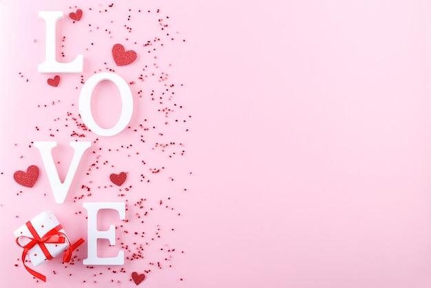 バレンタインデーの背景 Premium写真